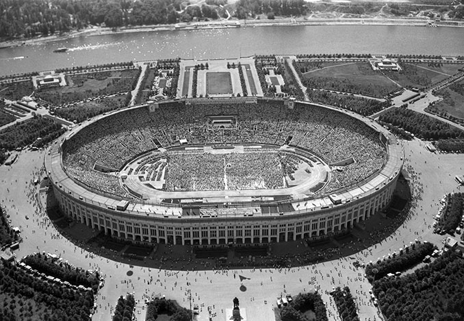 Estadio Olímpico Luzhnikí en 1956 - Odio Eterno Al Fútbol Moderno