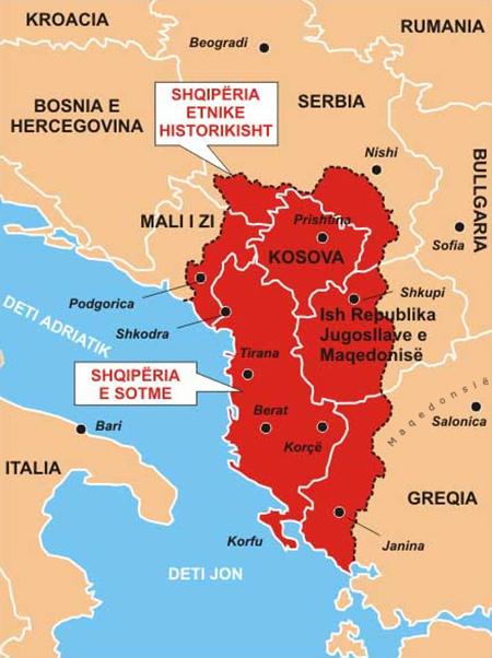 Territorios considerados como la Gran Albania - Odio Eterno Al Fútbol Moderno