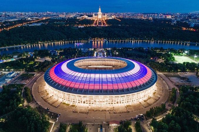 Estadio Olímpico Luzhnikí durante la Copa del Mundo de 2018 - Odio Eterno Al Fútbol Moderno