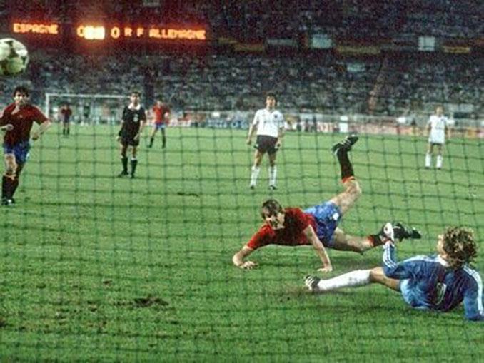 Un épico gol de Maceda a Alemania clasificó a España para semifinales de la Eurocopa de 1984 - Odio Eterno Al Fútbol Moderno