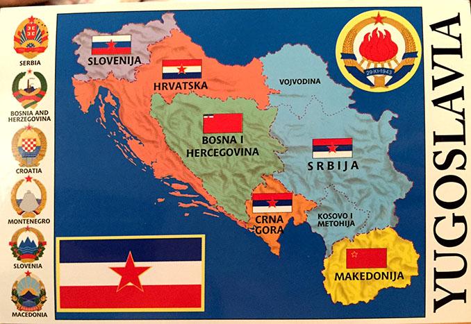Mapa de la antigua Yugoslavia - Odio Eterno Al Fútbol Moderno