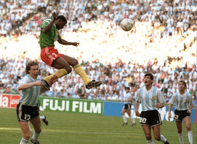 Gol de Omam-Biyik a Argentina en el Mundial de 1990 - Odio Eterno Al Fútbol Moderno