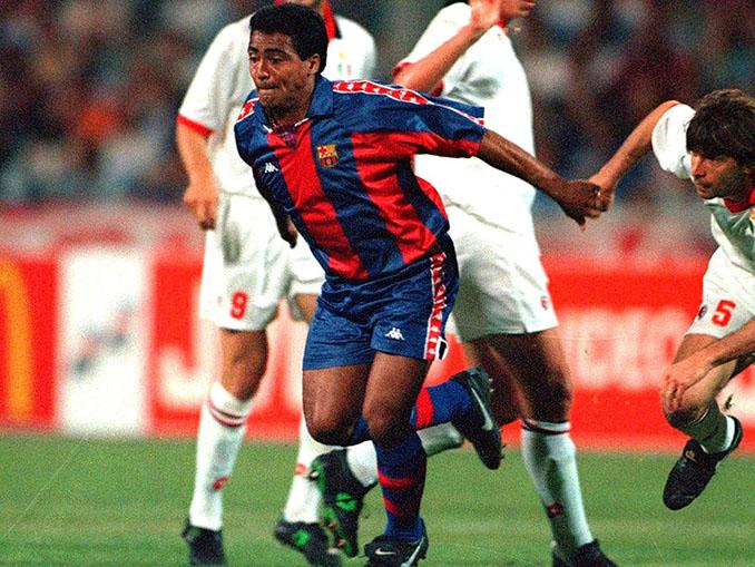 Romario durante su etapa en el FC Barcelona - Odio Eterno Al Fútbol Moderno