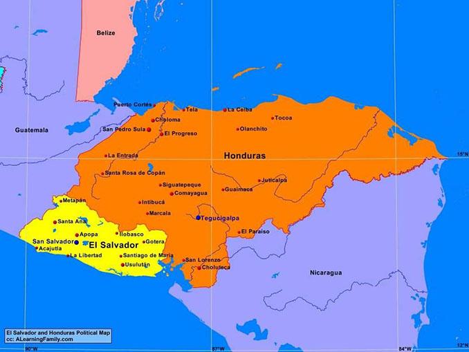 Mapa de Centroamérica en 1969 - Odio Eterno Al Fútbol Moderno