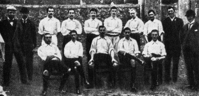 Genoa en 1898, ganador del primer campeonato italiano - Odio Eterno Al Fútbol Moderno