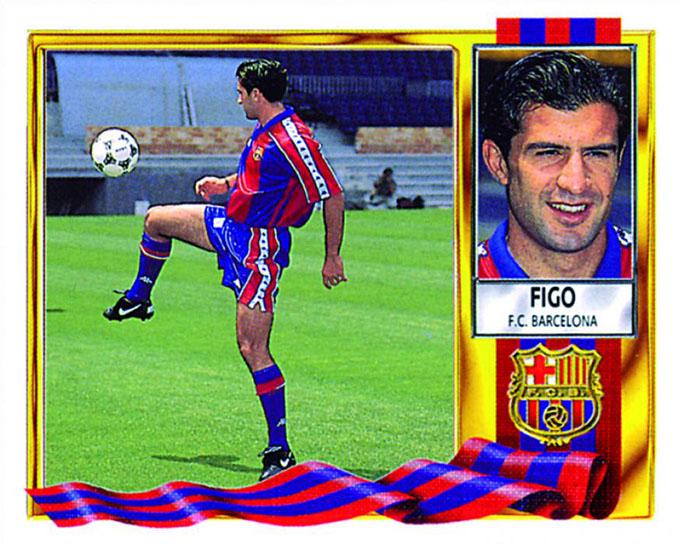 Cromo de Luis Figo - Odio Eterno Al Fútbol Moderno