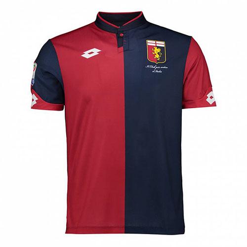 Camiseta del Genoa en la temporada 2017-2018 sin la ansiada estrella - Odio Eterno Al Fútbol Moderno