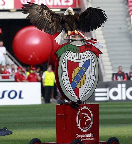 Escudo del Benfica con el águila Victoria posada sobre él - Odio Eterno Al Fútbol Moderno