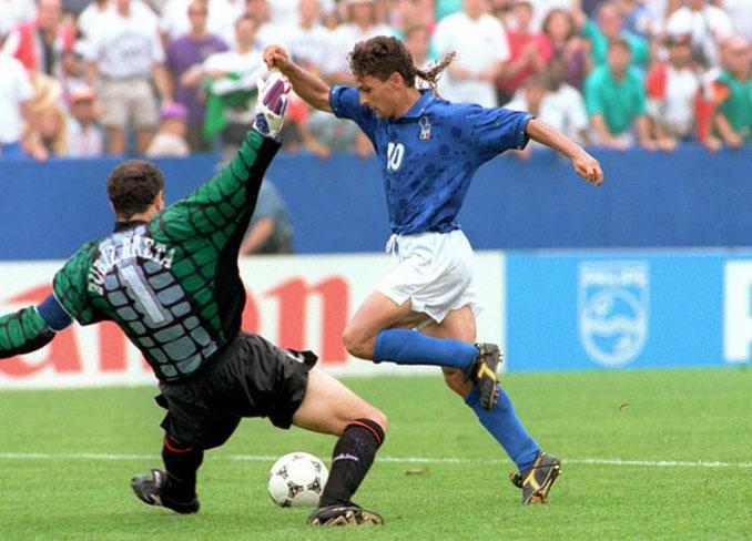 Roberto Baggio sentenció el España vs Italia de 1994 - Odio Eterno Al Fútbol Moderno