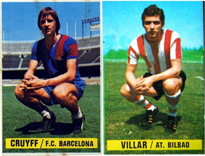 Cromos de Johan Cruyff y Ángel María Villar - Odio Eterno Al Fútbol Moderno