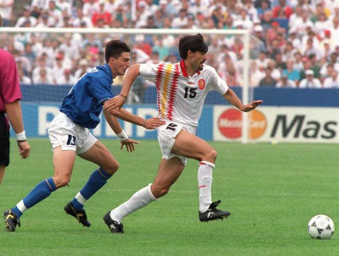 Dino Baggio y Caminero en el España vs Italia de 1994 - Odio Eterno Al Fútbol Moderno