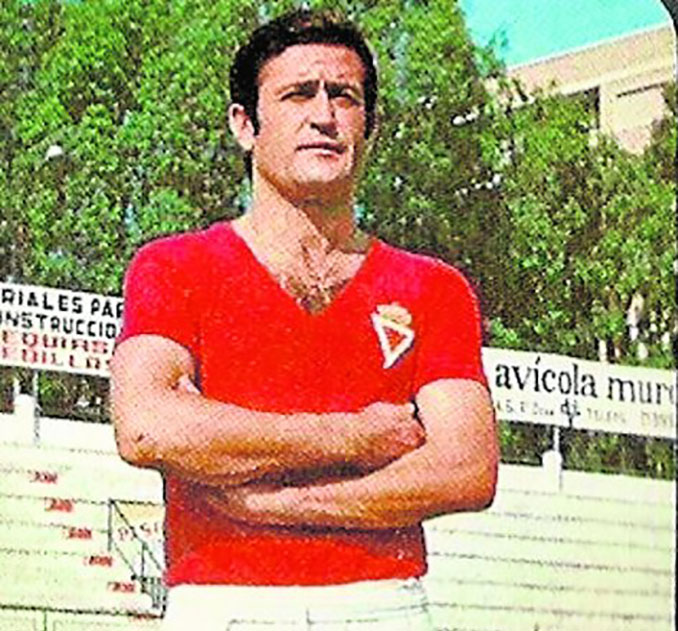 José Luis Ponce con la camiseta del Real Murcia - Odio Eterno Al Fútbol Moderno