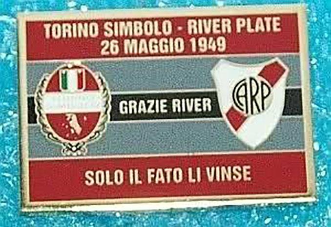 Cartel del partido amistoso entre RIver y Torino en mayo de 1949 - Odio Eterno Al Fútbol Moderno