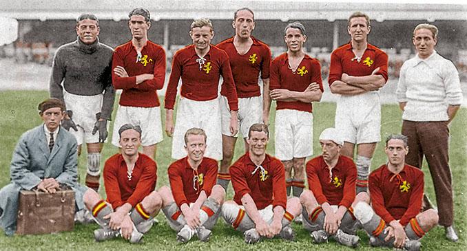 Ricardo Zamora formó parte de la primera selección española en 1920 - Odio Eterno Al Fútbol Moderno