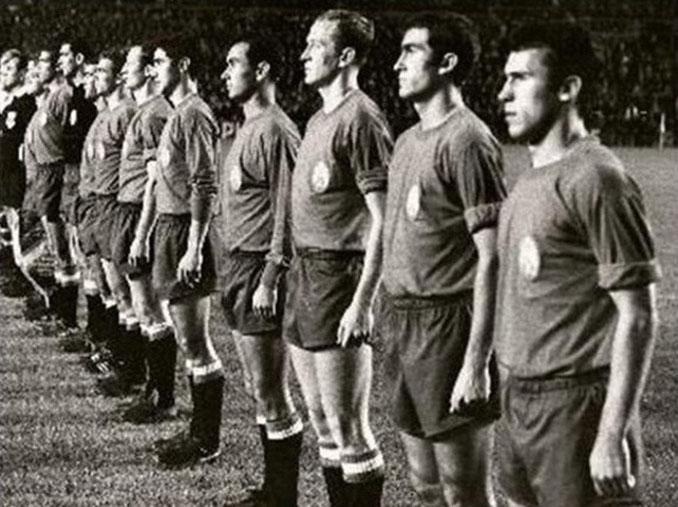 Selección española en el homenaje a Zamora - Odio Eterno Al Fútbol Moderno